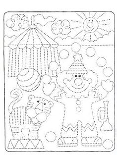 Shapes Worksheets, Tracing Worksheets, Preschool Worksheets, Preschool Activities, Basic Drawing, Drawing For Kids, Art For Kids, Crafts For Kids, Preschool Circus