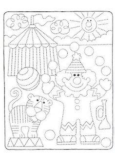 ...Το Νηπιαγωγείο μ' αρέσει πιο πολύ.: Κλόουν με χαρτοσακούλα, ποιήματα, τραγούδια και άλλα... Preschool Circus, Preschool Writing, Drawing For Kids, Art For Kids, Crafts For Kids, Tracing Worksheets, Preschool Worksheets, Pre Writing, Kids Writing