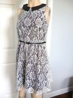 NWT - Xhilaration Womens Black & White Lace Overlay Sleeveless Dress Size S or M in Clothing, Shoes & Accessories, Women's Clothing, Dresses | eBay