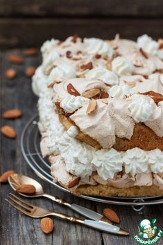 The best cake in the world - recipe Cooking Cake, Cooking Recipes, Sweet Recipes, Cake Recipes, Meringue, Easy Cake Decorating, Pie Cake, Russian Recipes, Pavlova