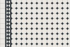 Oxley pattern - White octagon & dot + Border + Infill