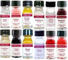 LorAnn Oils Gourmet Super Strength Fruit Flavors (No Oils) 1 Dram Variety Bundle #1 (Pack of 12)