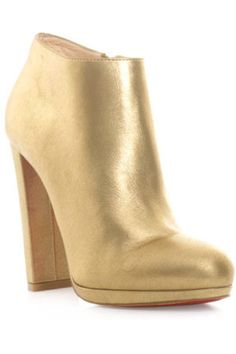 We're Obsessed: Christian Louboutin's Gilded Booties