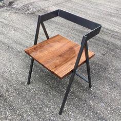 Handcrafted Wood and Metal Frame Dining Chair (Model Name: Walker) - design - Welded Furniture, Industrial Design Furniture, Iron Furniture, Steel Furniture, Furniture Design, Office Furniture, Furniture Ideas, Bedroom Furniture, Reuse Furniture