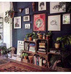 Home Living Room, Living Room Decor, Living Spaces, Bedroom Decor, Small Living, Bookshelf Living Room, Modern Living, Modern Room, Bedroom Wall