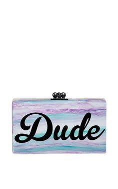 M'O Exclusive Jean Dude In Blue Tie Dye by Edie Parker for Preorder on Moda Operandi