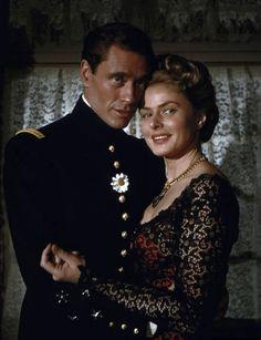 Mel Ferrer and Ingrid Bergman in Jean Renoir's Elena et les hommes (1956)