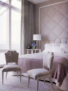 This beautifully chic bedroom boasts style and sophistication. Finished in various pink hues for a classic look. #hotlooks #inspiration #bedroom @ecab1