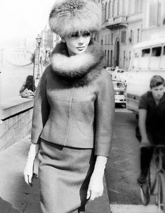 Ina Balke (in a Federico Forquet suit) photographed by Regina Relang - Florence, 1963