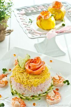 Chirashi Sushi Cake and Temari Sushi | Easy Recipe Just One Cookbook