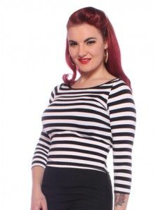 Collectif SHIRLEY Vintage CROPPED Peephole Buttoned JUMPER Pullover Rockabilly