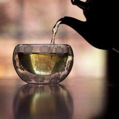 Beautiful tea glass