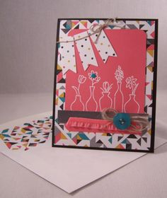 Vivid Vases Birthday Card, Stampin' Up!, Occasions 2014 Catalog  www.stampingcountry.com