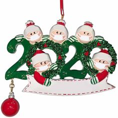 Christmas DIY Family Portrait Ornament - Family 5 / Buy 2 Get 1 Free (3Pcs)