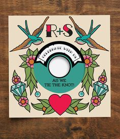 Hey, I found this really awesome Etsy listing at https://www.etsy.com/listing/184897965/music-tattoo-lovers-vinyl-record-wedding
