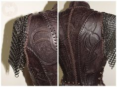Lagertha Vikings inspired Armor by TheLeatherMaiden on Etsy Vikings Costume Diy, Viking Costume, Chainmaille, Female Armor, Landsknecht, Leather Armor, Fantasy Costumes, Halloween Dress, Bold Fashion