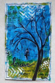 Beautiful art journal page!Repinned from FUN with ART JOURNALING and DOODLING! For all of us non-artists, and wanna-artists! Come join us!! by Joyce Lewis