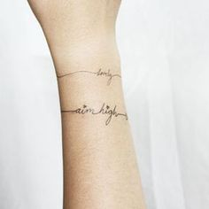 bracelet tattoos with words - Google Search