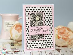 Simple wedding card made with Echo Park Paper Wedding Bliss . Cardmaking, Scrapbooking, Handmade cards,