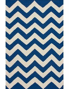 Navy Chevron Rug - would look great in any room!