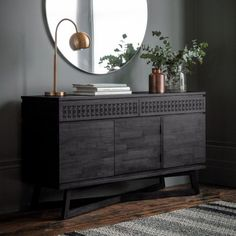 Black Boho Chic Sideboard