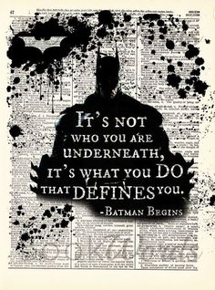 Most memorable quotes from Batman, a movie based on film. Find important Batman Quotes from film. Batman Quotes about Fantastic and interesting Quotes Batman. Check InboundQuotes for I Am Batman, Batman Robin, Batman Arkham, Superman, Batman Stuff, Young Justice, Nightwing, Batgirl, Batman Begins Quotes