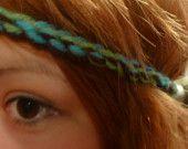 Crocheted Yarn Multi-colored Headband Set