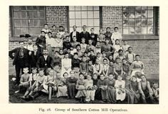photograph of cotton mill workers