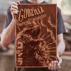 Laser Engraved Wooden Posters by SpaceWolf