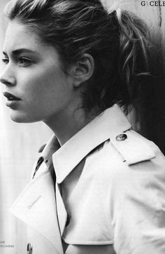 autumn inspiration : a ponytail & a trench by {this is glamorous}, via Flickr