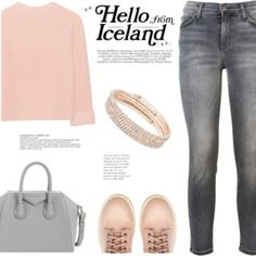 A fashion look from April 2017 featuring iHeart sweaters, Current/Elliott jeans and Givenchy handbags. Browse and shop related looks. Winter Outfits, Summer Outfits, Cute Outfits, Anne Klein Clothing, Givenchy Handbags, Street Style 2017, Fashion Outfits, Fashion Sets, Women's Fashion