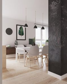 Artem Tiutiunnyk Interior design of apartment in Minsk at the joint of Scandinavian style and restrained minimalism.