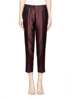 J.CREW - Collection café capri in diamond foulard | Multi-colour Casual Pants | Womenswear | Lane Crawford