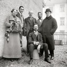 «Синий всадник»: слева Мария Франк и Франц Марк, 1911