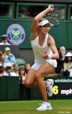 See How Hot Breakout Women's Tennis Star Eugenie Bouchard Is Mode Tennis, Wta Tennis, Lawn Tennis, Sport Tennis, Tennis Live, Tennis Outfits, Tennis Clothes, Wimbledon, Foto Sport