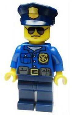 City Police Officer LEGO Minifigure