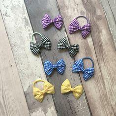 Handmade gingham school bows by TheBowGeek on Etsy