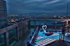 Couples corner on the Umeda Sky Building