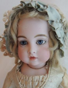 Antique Circle Dot Bru French Doll, Size 1