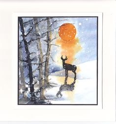 Soleil de feu by Micheline Jourdain using Penny Black stamps.