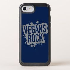 Paint Splatter VEGANS ROCK (gry) Speck iPhone Case - animal gift ideas animals and pets diy customize