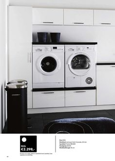 Lovely idea for laundry room. #Kvik