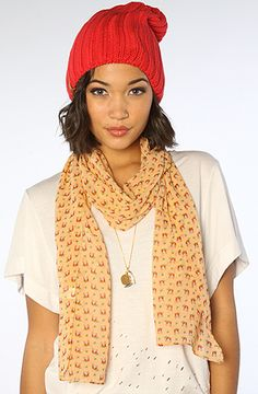 *Accessories Boutique The Hooting Owl Scarf in Mustard :  #MissKL and #SpringtimeinParis