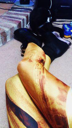 Melted gold leggings SAMPLE