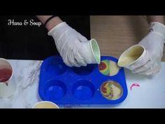 Round Soap Swirl making & Cutting , How to make round soap swirl , Hana and Soap - YouTube