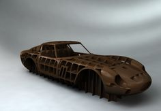 Ferrari 250 GTO hammer form buck. Created from scans of two original cars and after much surfacing CAD action.