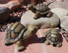Family of Turtles Set of 3 Indoor or Outdoor Safe Cute Garden decor Humorous