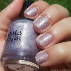 Reverie Nail Polish - Orchid Swatch, a light purple/lavender scattered holographic indie polish.