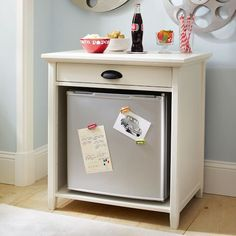 Chatham Snack Cabinet Top I love this! For kids snacks or beer? Then the coffee pot on top and coffee pods in the drawer!
