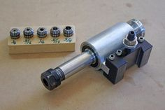 Lathe tool post grinder/drill adapted for QCTP